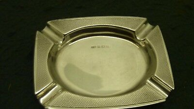 48.89g Solid Sterling Silver HM 1967 Jon Rose 73 mm Oblong Cigarette Ash Tray