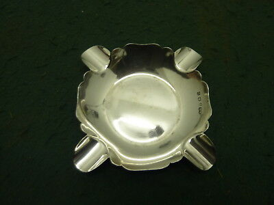 77.38g Solid Sterling Silver HM 1928 William Suckling 10 cm Cigar Ash Tray