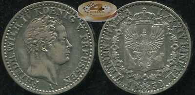 Germany [Prussia]. 1/6 thaler. 1852.A (Silver Coin AKS.80. XF)