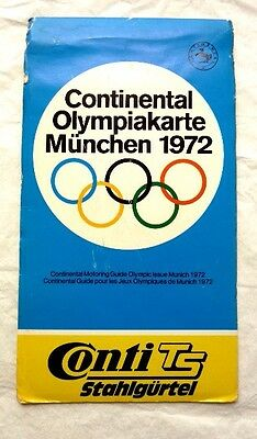Original MUNICH/ MUNCHEN 1972 OLYMPIC GAMES MAP COLLECTABLE sought after