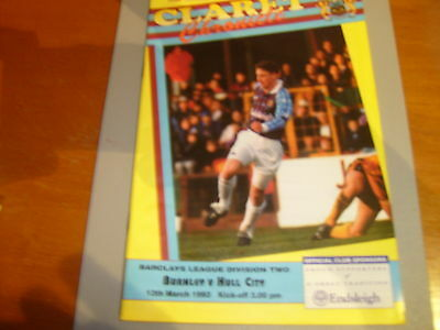 Burnley v Hull 92/93