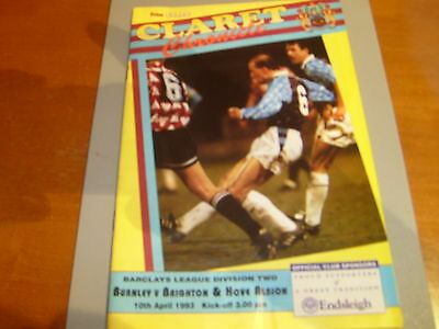Burnley v Brighton 92/93