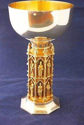 A Stunning Silver And Gilt Goblet By Aurum Issued By Wells Cathedral In 1982