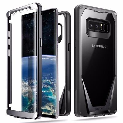 Samsung Galaxy Note 8 Poetic Case Guardian 360 Degree Protection Rugged Case BK