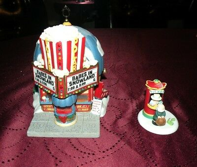 """Department 56 North Pole Village - """"Polar Palace Theater"""" with accessory"""