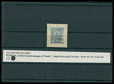 TUNESIEN PROOF 1926 IMPERF !!! MOSQUE MOSQUEE MOSCHEE ESSAY TEST VERY RARE h1514