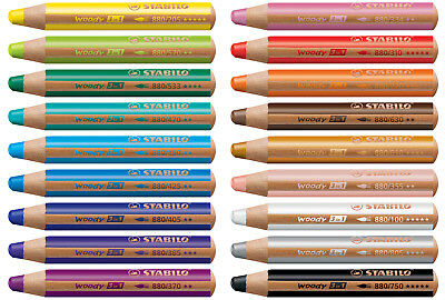 STABILO Woody 3 in 1 Multi Talent Pencil Crayon single pencils all colors