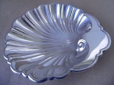 Beautiful Large Gorham American Sterling Silver Shell Sweet/ Butter Dish