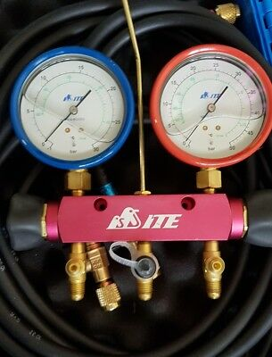 2 Way Co2 guage manifold with hoses and case
