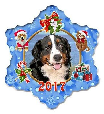 Bernese Mountain Dog Porcelain Christmas Holiday Ornament - 2017
