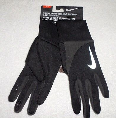 New Size Small Nike Women's Element Thermal 2.0 Run Gloves Black/gray