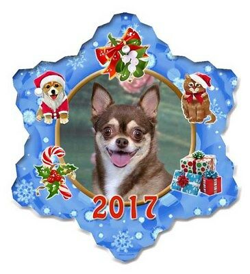 Chihuahua Porcelain Christmas Holiday Ornament - 2017