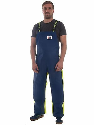 Stormline Fishing Oilskins Bib and Brace, Crew 655 Waterproof Overtrousers