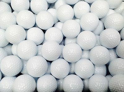 White Golf Balls New Plain, Brand New, Unbranded 3 Piece Practice