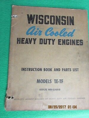 Wisconsin Air cooled Engine Manual     Model TE-TF