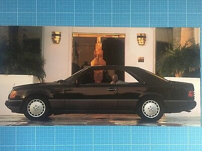tolles Poster Mercedes W 124 Coupe