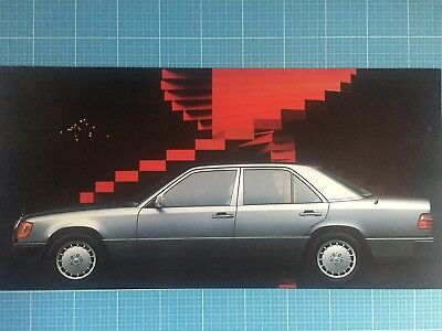 tolles Poster Mercedes W 124 Silhouette