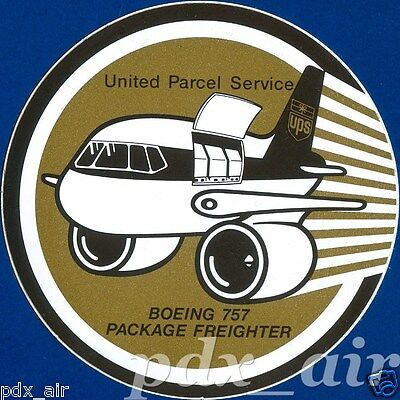 Rare Ups American Cargo Airlines Boeing 757 Package Freighter Sticker
