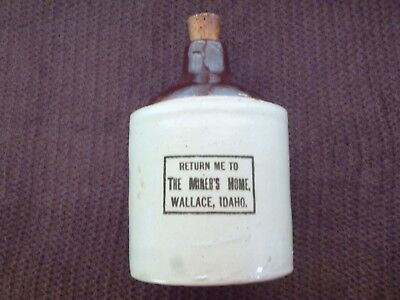RARE Redwing 1/2 Gal Stoneware Jug Miners Home Wallace Idaho Whiskey Vinegar