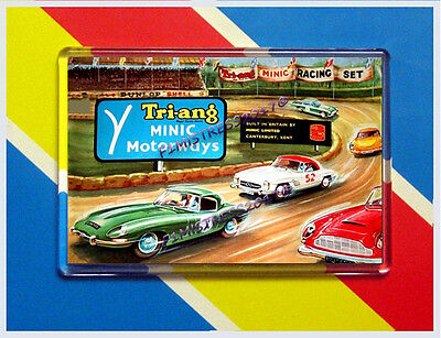 Tri-Ang Minic Motor Motorways Advert  Jumbo  Fridge / Locker Magnet (2)