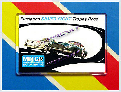Minic European Silver Eight Trophy Race 2 Advert  Jumbo Fridge / Locker Magnet