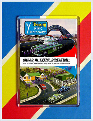 "Tri-Ang Minic  Motorways ""ahead In Every Direction""jumbo  Fridge / Locker Magnet"
