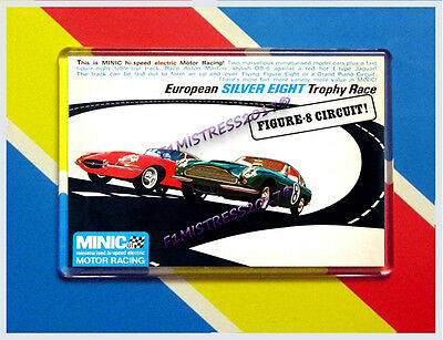 Minic European Silver Eight Trophy Race Advert  Jumbo  Fridge / Locker Magnet