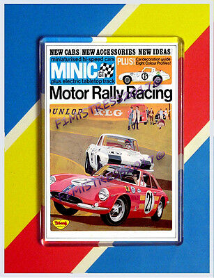 Tri-Ang Minic Motor Rally Racing Poster Leaflet Jumbo  Fridge / Locker Magnet