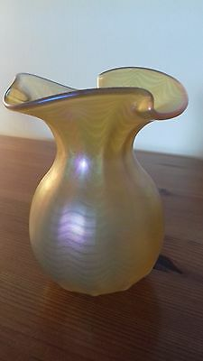 Okra Glass, flared top posy vase 1994