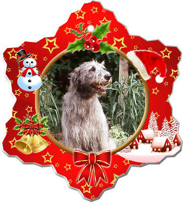 Irish Wolfhound Porcelain Ornament