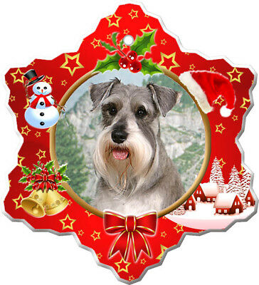 Miniature Schnauzer Porcelain Ornament