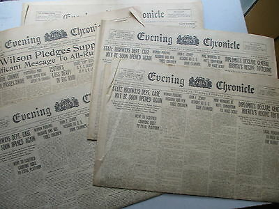 SEVEN 1914-1918 Pottsville PA Evening Chronicle Newspapers - WWI, Etc.