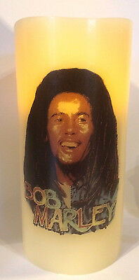 Bob Marley Electronic Flickering Candle Flameless