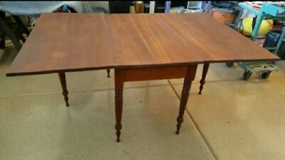 Antique 19th Century Cherry Drop Leaf Dining Table