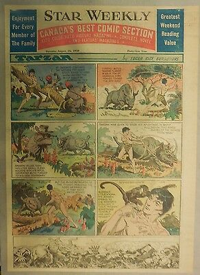Tarzan Sunday Page by 1st.  Bob Lubbers from 8/27/1950 Tabloid Page Size