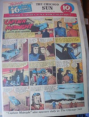 Captain Midnight Sunday by Jonwon from 10/18/1942 Large Rare Full Page Size!