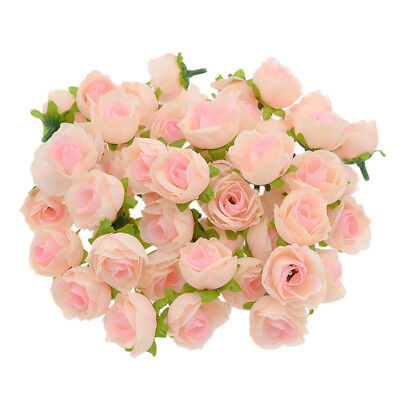 50 Pc Fake Roses Artificial Silky Flower Heads Wedding Party Decor Wholesale