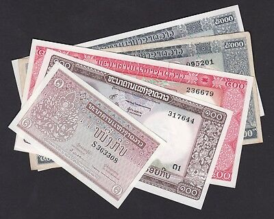 LAOS, mix of banknotes, 5 pcs