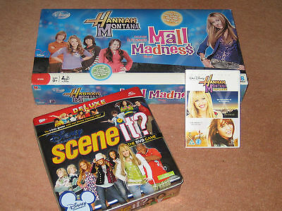 Hannah Montana Talking Electronic Mall Madness Game + DVD + Special Scene IT