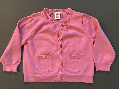 Baby Girl Old Navy Size 6-12 Months Piink Button Front Cardigan Sweater