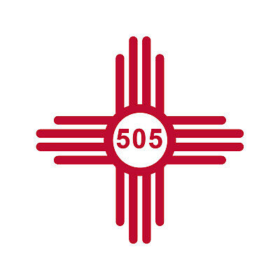 New Mexico Flag NM 9 colors 15 sizes 575 Vinyl Stickers ZIA