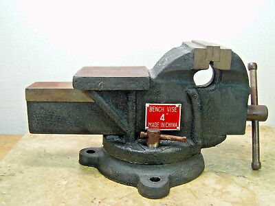 "Pre-owned 4"" Heavy-Duty Bench Vise with Swivel Base"