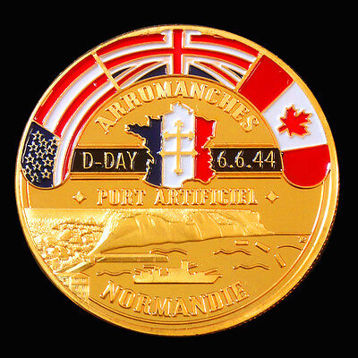 WW2 D-DAY NORMANDY LANDING 70th ANIVERSARY 1oz COMMEMORATIVE COIN
