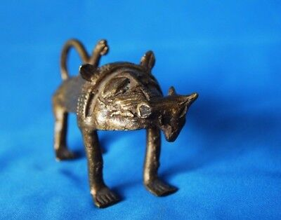 African Gold Weight Hunting Lion With Prey