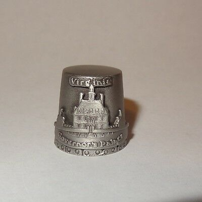 Vintage Thimble Virginia Governors Palace Williamsburg Colonial Pewter Fort