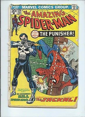 The Amazing Spider-Man #129 (Feb 1974, Marvel) First Punisher