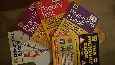 AA DVLA Driving test 5 book bundle  Highway code,Theory (2) Practical (2) Skills