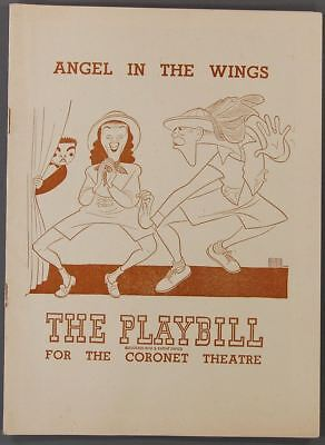 1948 PLAYBILL Angel in the Wings THE HARTMANS Coronet Theatre ELAINE STRITCH