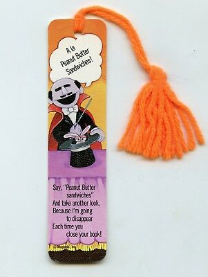 Vintage Antioch Bookplate Bookmark Sesame Street The Count - 1980