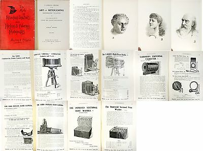 Art of Retouching Negatives Marion & Co. RARE 1907 lots of ads